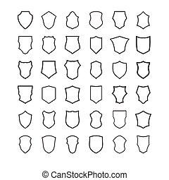 set of shields vector