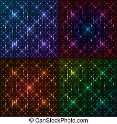 Set of shining round patterns