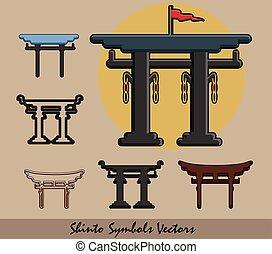 Set of Shinto Symbols