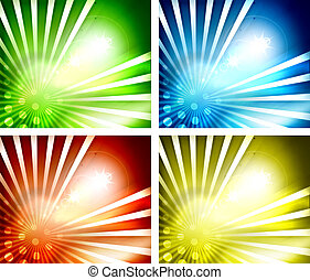 Set of shiny vector backgrounds
