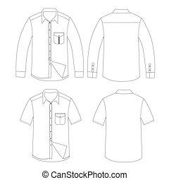 Set of Shirt vector