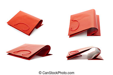 Set of Shopping bag isolated over the white background