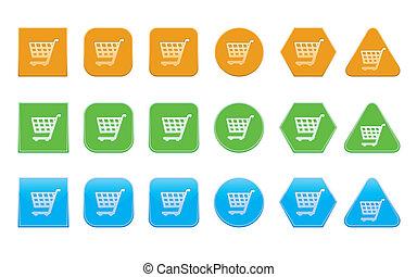 set of shopping cart icons