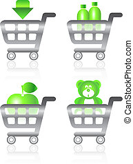 Set of shopping chart  icons