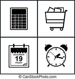Set of Shopping Icons , Budgeting
