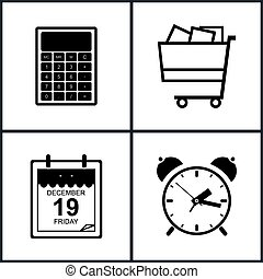 Set of Shopping Icons , Budgeting