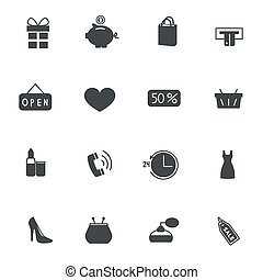 Set of shopping icons. Vector illustration