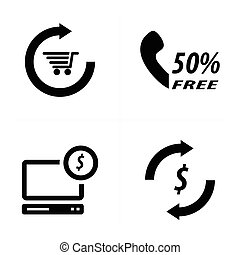 Set of shopping online icons