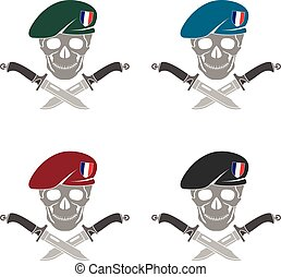 set of sign of special forces of France.eps