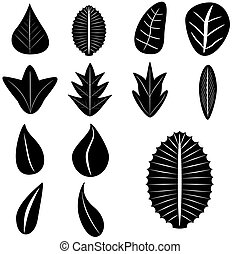 Set of Silhouette Leaves