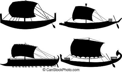 ancient sail boats