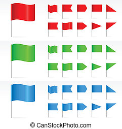 Set of simple Banners. Illustration on white background