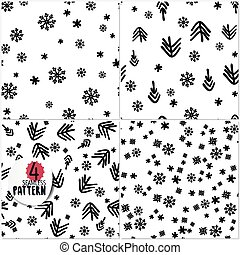 Set of simple Christmas patterns