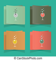 set of simple glasses for alcoholic drinks