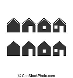 Set of simple home icons