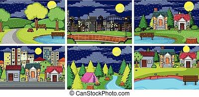 Set of simple landscape