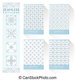 Set of simple line seamless patterns 2