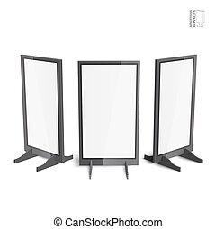Set of simple outdoor indoor stander advertising stands
