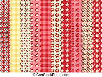 Set of simple seamless pattern 1