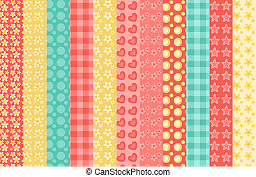 Set of simple seamless pattern 2