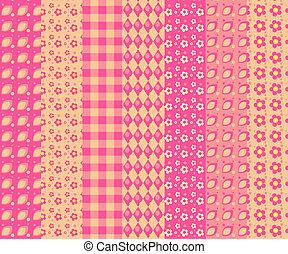 Set of simple seamless pattern 4