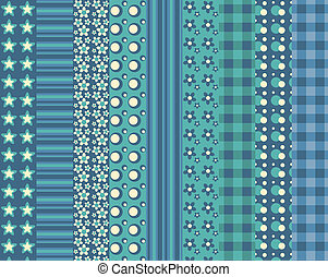 Set of simple seamless pattern 5