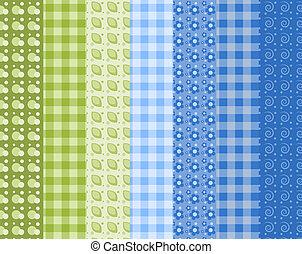 Set of simple seamless pattern 6