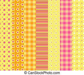 Set of simple seamless pattern 7