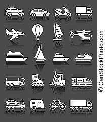 Set of simple transport icons