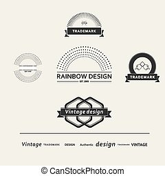 Set of simple vector elements for design