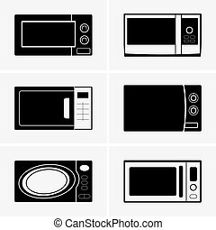Microwave ovens - Set of six Microwave ovens