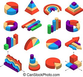 Set Of Sixteen Isometric Diagram Elements