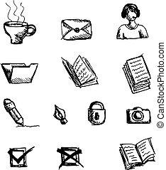 Set of sketch icons
