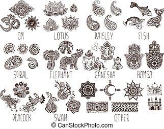 Ganesha mehndi vector ganesha or ganapati indian deity in the set of sketches mehndi mightylinksfo