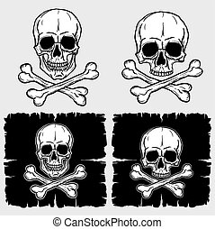 Set of Skull and Crossbones
