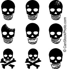 Set of Skull and crossbones icon