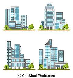 Set of skyscrapers in vector.