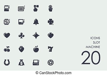Set of slot machine icons