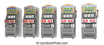 Set of slot machines