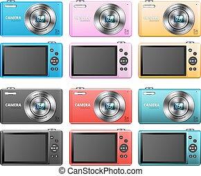 Set of small cameras