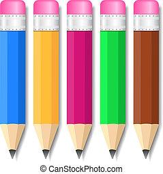 Set of small pencils