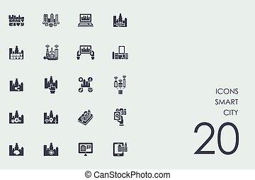 Set of smart city icons