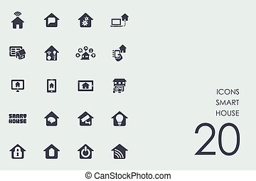 Set of smart house icons