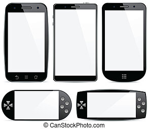 Set of smartphone concepts.