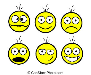 set of smiles - set of smileys with emotions