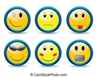 Set of smileys 2