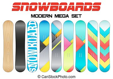 Set of Snowboards sample symbols