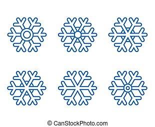 set of snowflake icons