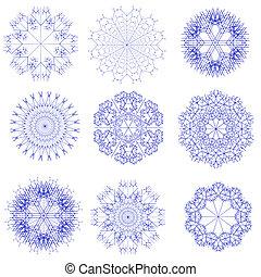 Set of snowflake
