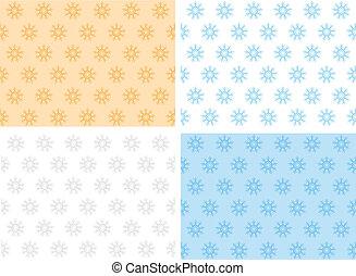 set of snowflakes background